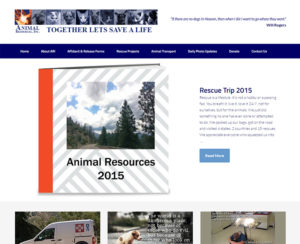 animalresourcesinc.com, custom designed WordPress website & maintenance