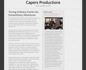capers4u.com, WordPress website