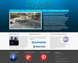 cynderellapoolandspaservice.com, WordPress website, maintenance & hosting