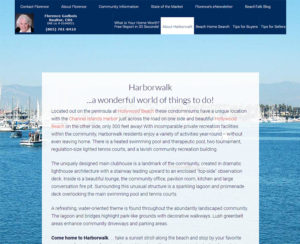 harborwalkcondos.com, custom designed WordPress website, maintenance & hosting
