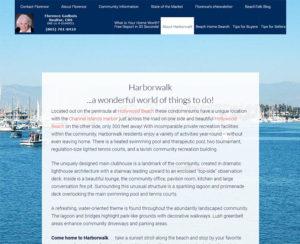 harborwalkcondos.com, custom designed WordPress website, maintenance & hosting