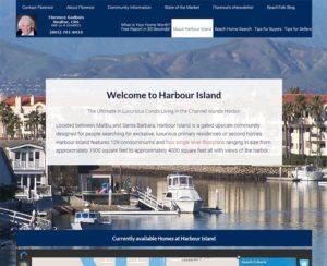 harbourislandliving.com, custom WordPress website, maintenance & hosting