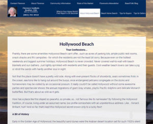 hollywoodbeachhomes.com, custom designed WordPress website, maintenance & hosting