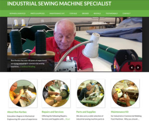 industrialsewingrepair.com, WordPress website, maintenance & hosting