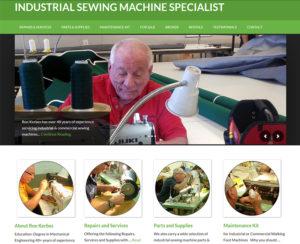 industrialsewingrepair.com, WordPress website, maintenance & hosting