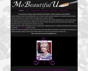 mobeautifulu.com, custom WordPress website, maintenance & hosting