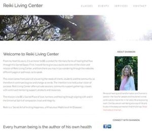 reikilivingcenter.com, WordPress website