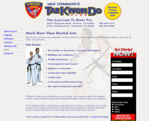 tkd-plus.com, custom designed hand-coded website