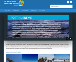 visithuenemebeach.com, WordPress website, maintenance & hosting