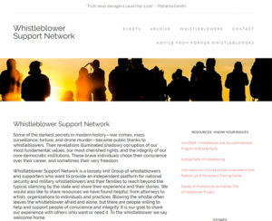whistleblowersupportnetwork.com, WordPress website, maintenance & hosting