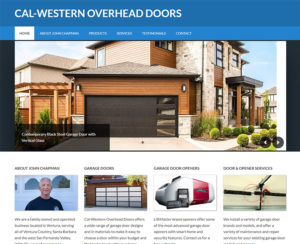 calwesterndoors.com, WordPress website design, hosting & maintenance