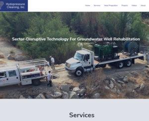 hydropressure.com, custom designed hand-coded website
